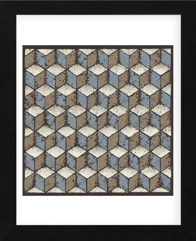 Tumbling Blocks (Blue) (Framed) -  Susan Clickner - McGaw Graphics