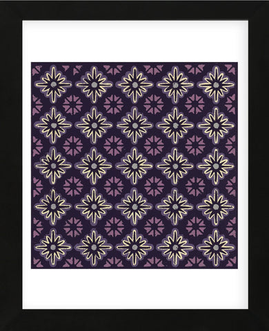 Moroccan Twelve Point Star (Purple) (Framed) -  Susan Clickner - McGaw Graphics