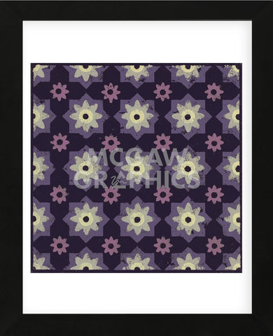 Moroccan Star Flower (Purple) (Framed) -  Susan Clickner - McGaw Graphics
