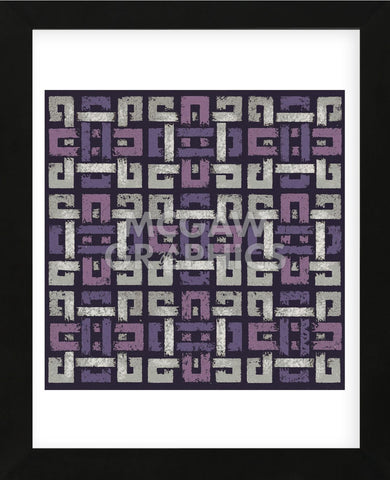 Large Knotted Weave (Purple) (Framed) -  Susan Clickner - McGaw Graphics