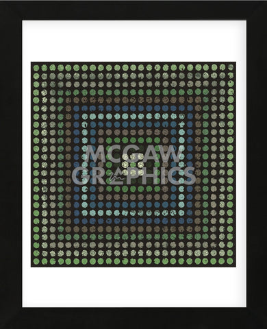 Lots of Dots (Teal) (Framed) -  Susan Clickner - McGaw Graphics
