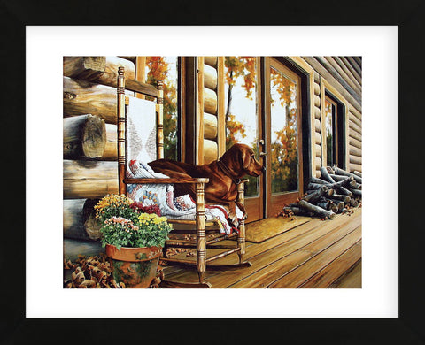 The Back Porch Rocker  (Framed) -  Linda Daniels - McGaw Graphics