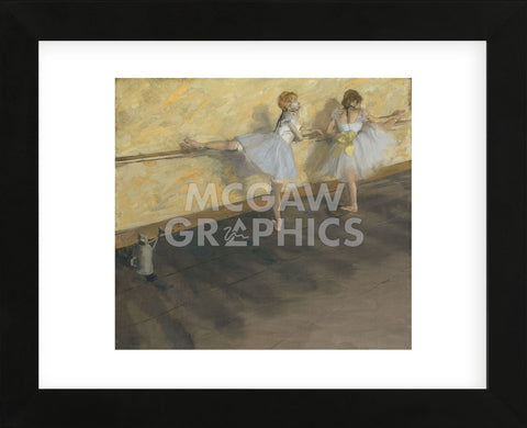 Edgar Degas - Dancers Practicing at the Barre, 1877