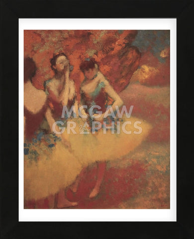Three Dancers in Yellow Skirts, 1891 (Framed) -  Edgar Degas - McGaw Graphics