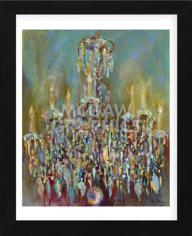 Chandelier Blue (Framed) -  Amy Dixon - McGaw Graphics
