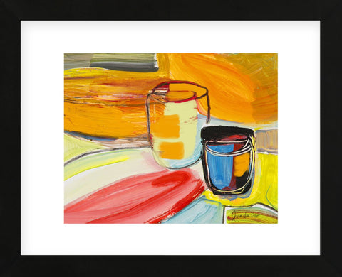 Glasses on the Bar (Framed) -  Joan Davis - McGaw Graphics