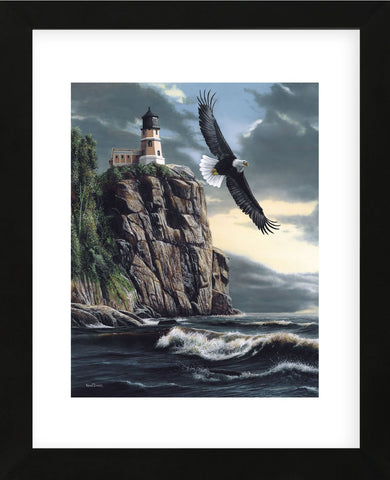 Lighthouse Cliff (Framed) -  Kevin Daniel - McGaw Graphics