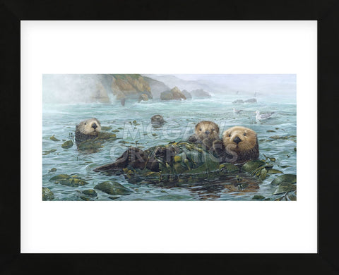 Carmel Coast Otters (Framed) -  John Dawson - McGaw Graphics
