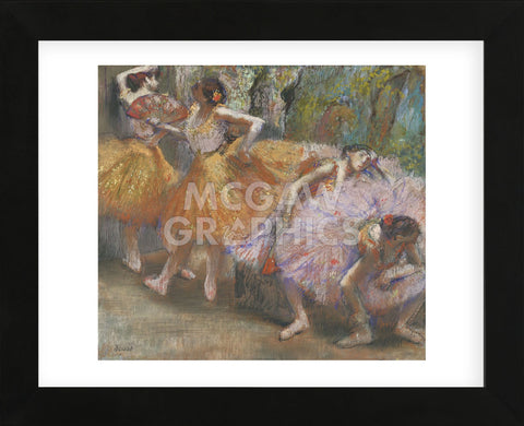Edgar Degas - Dancers with Fans, c. 1898