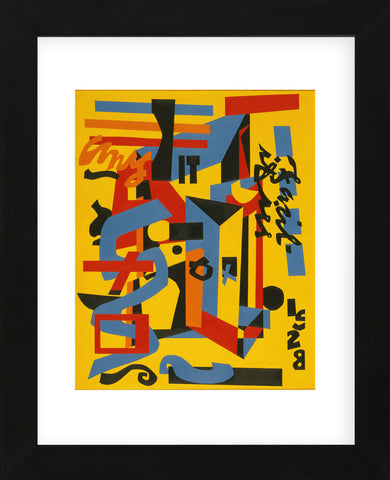Something on the Eight Ball, 1953-1954 (Framed) -  Stuart Davis - McGaw Graphics