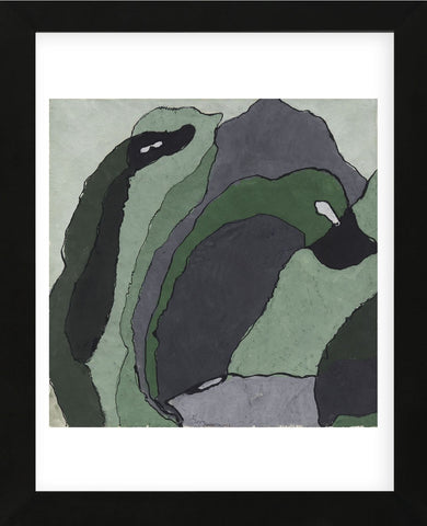 Composition in Green and Gray (Untitled), about 1930 (Framed) -  Arthur Dove - McGaw Graphics