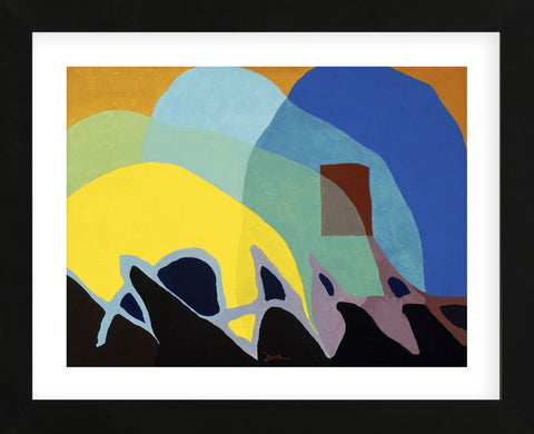 Dancing Willows, about 1944 (Framed) -  Arthur Dove - McGaw Graphics