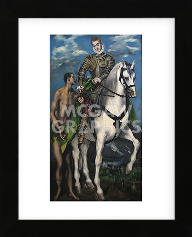 Saint Martin and the Begger 1597-99 (Framed) -  El Greco - McGaw Graphics