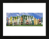 Surfboard Fence (Framed) -  Dennis Frates - McGaw Graphics