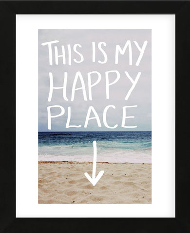 This Is My Happy Place (Beach) (Framed) -  Leah Flores - McGaw Graphics