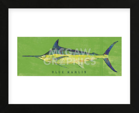 Blue Marlin  (Framed) -  John W. Golden - McGaw Graphics