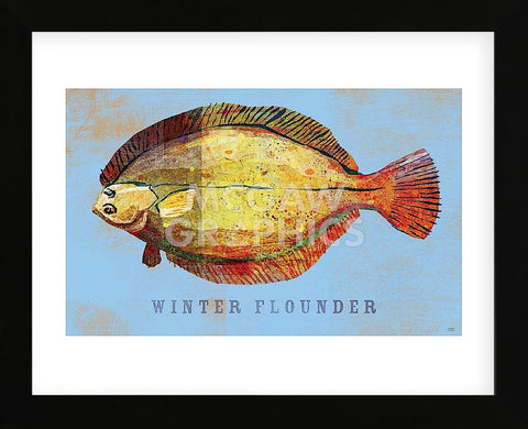 Winter Flounder  (Framed) -  John W. Golden - McGaw Graphics