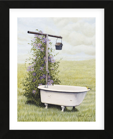 Bird Bath   (Framed) -  Kathleen Green - McGaw Graphics