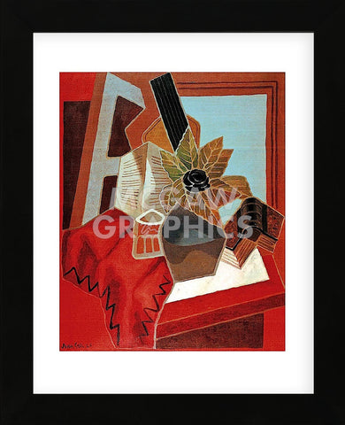 Flowers on the Table (Framed) -  Juan Gris - McGaw Graphics