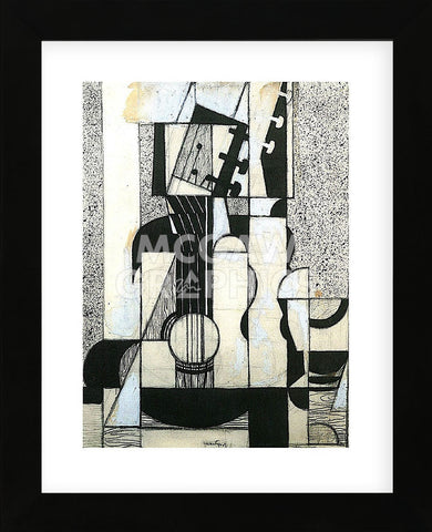 Still Life with Guitar (Framed) -  Juan Gris - McGaw Graphics
