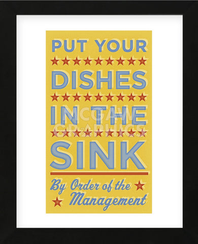 Put Your Dishes in the Sink (Framed) -  John W. Golden - McGaw Graphics