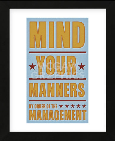 Mind Your Manners (Framed) -  John W. Golden - McGaw Graphics