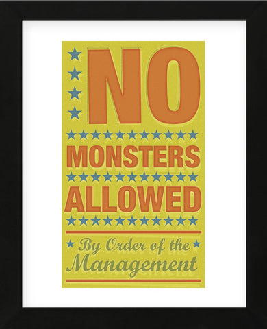 No Monsters Allowed (Framed) -  John W. Golden - McGaw Graphics