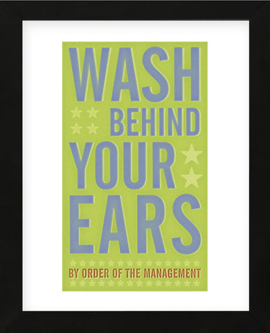 Wash Behind Your Ears (Framed) -  John W. Golden - McGaw Graphics