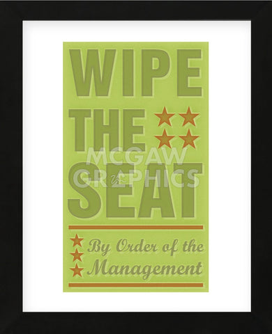 Wipe the Seat (Framed) -  John W. Golden - McGaw Graphics