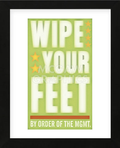 Wipe Your Feet (Framed) -  John W. Golden - McGaw Graphics