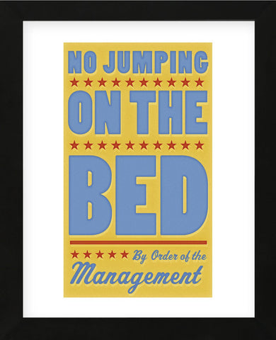 No Jumping on the Bed (yellow) (Framed) -  John W. Golden - McGaw Graphics