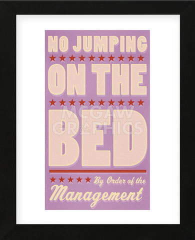 No Jumping on the Bed (pink) (Framed) -  John W. Golden - McGaw Graphics