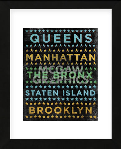 New York Hoods (color) (Framed) -  John W. Golden - McGaw Graphics