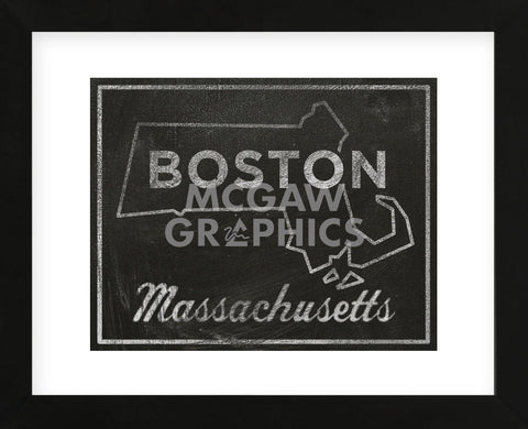 Boston, Massachusetts (Framed) -  John W. Golden - McGaw Graphics
