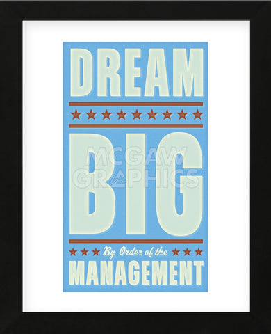 Dream Big (blue) (Framed) -  John W. Golden - McGaw Graphics