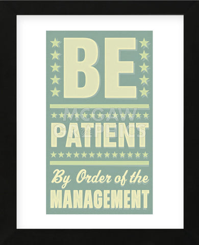 Be Patient (Framed) -  John W. Golden - McGaw Graphics