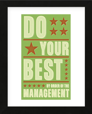 Do Your Best (Framed) -  John W. Golden - McGaw Graphics