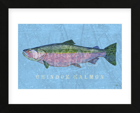 Chinook Salmon (Framed) -  John W. Golden - McGaw Graphics