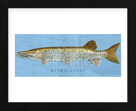 Muskellunge (Framed) -  John W. Golden - McGaw Graphics