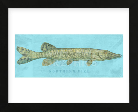 Northern Pike (Framed) -  John W. Golden - McGaw Graphics