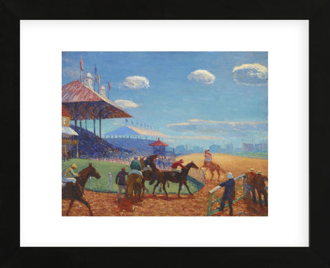 Race Track, 1908-1909 (Framed) -  William James Glackens - McGaw Graphics