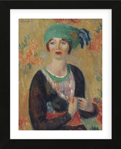 Girl in Green Turban, 1913 (Framed) -  William James Glackens - McGaw Graphics