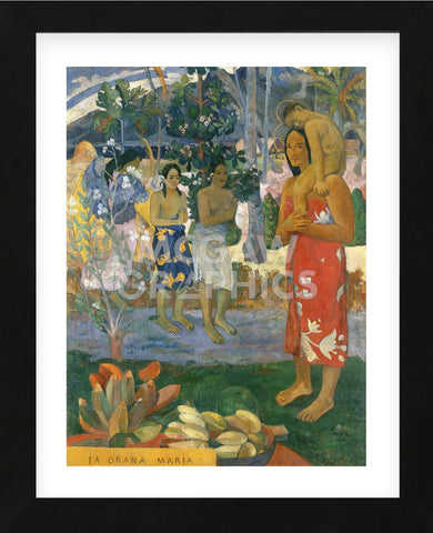 Ia Orana Maria (Hail Mary), 1891 (Framed) -  Paul Gauguin - McGaw Graphics