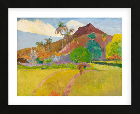 Tahitian Landscape, 1891 (Framed) -  Paul Gauguin - McGaw Graphics