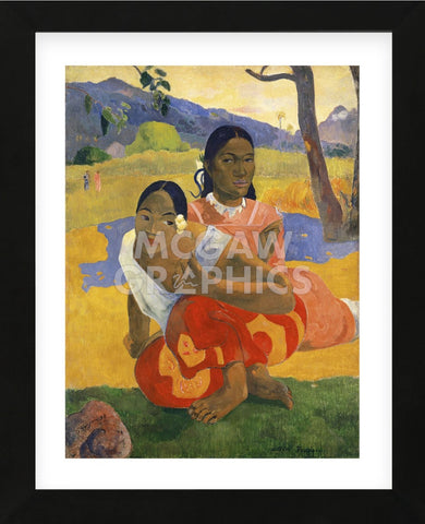 When Will You Marry?, 1892 (Framed) -  Paul Gauguin - McGaw Graphics