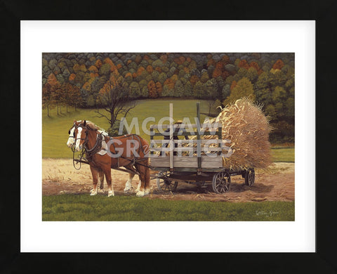 Amish Harvest  (Framed) -  Kathleen Green - McGaw Graphics
