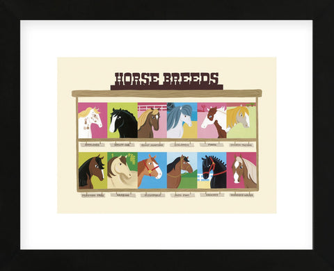 Horse Breeds  (Framed) -  Janell Genovese - McGaw Graphics