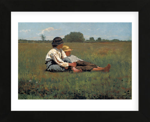 Boys in a Pasture, 1874  (Framed) -  Winslow Homer - McGaw Graphics