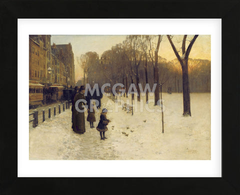 Boston Common at Twilight, 1885-86  (Framed) -  Childe Hassam - McGaw Graphics