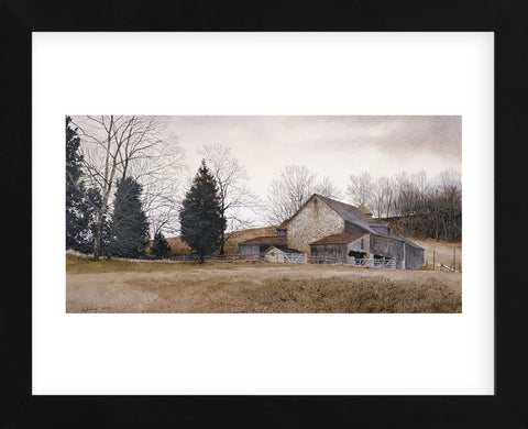 Farm on the Hill  (Framed) -  Ray Hendershot - McGaw Graphics